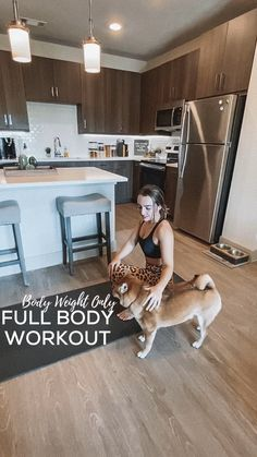 Quick at home full body workout routine, no equipment required. Fitness Workouts, Gym Workout Tips, No Equipment Workout, Workout Videos, Fitness Goals, Workout Women, Yoga Videos, Full Body Circuit Workout, Full Body Workout Routine