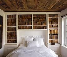 Inspiring picture art, bed, bedroom, book, books. Resolution: 500x373 px. Find the picture to your taste!