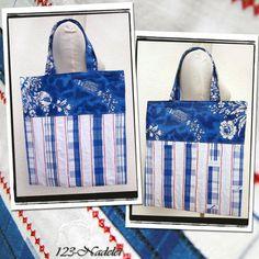 Beutel aus Geschirrtuch / Tote bag made from tea towel / Upcycling