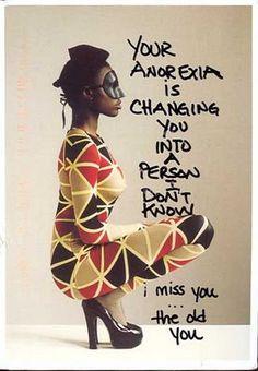 Anorexia. Postsecret.