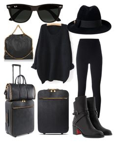 """""""travel"""" by laura-maksula ❤ liked on Polyvore featuring STELLA McCARTNEY, adidas Originals, Christian Louboutin, WithChic, Gucci and Ray-Ban"""