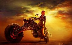 A beautiful picture of Girl on the #Motorcycle #Fantasy #Art downloaded from http://alliswall.com