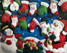 Felt Advent Calendar Santa mantle   Etsy Christmas Countdown, Days To Christmas, Halloween Countdown, Christmas Bird, Felt Advent Calendar, Countdown Calendar, Bank Holiday, Mantle, Mittens