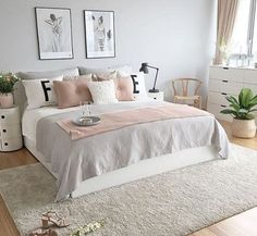 Grey Pink Rose Gold Bedroom I Like The Greenary In 2019 Bedroom Design Ideas In. Grey Pink Rose Gold Bedroom I Like The Greenary In 2019 Bedroom Design Ideas Inspiration Target A Dream Rooms, Dream Bedroom, Mansion Bedroom, Trendy Bedroom, Modern Bedroom, Grown Up Bedroom, Bedroom Simple, Contemporary Bedroom, My New Room