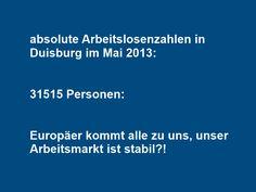 Arbeitslosenzahlen in Duisburg