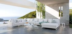 Furniture shop in Marbella, specialists in interior design and decoration. Design of personalized spaces with the most exclusive firms. Outdoor Sofa, Outdoor Rooms, Outdoor Living, Outdoor Decor, Outdoor Furniture Design, Wicker Furniture, Living Furniture, Contemporary Patio, Modern Patio
