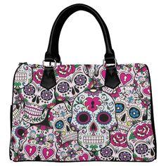 D-Story Custom Handbag Sugar Skull Handbag /Tote Bag /Shoulder Bag for Women - My Sugar Skulls