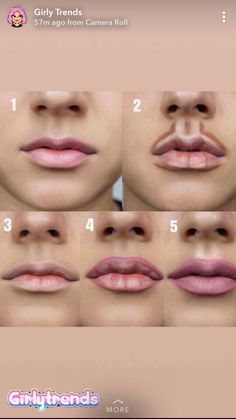 Pin by France Bougie on Maquillage in 2019 - Kama D. Moreau - - Pin by France Bougie on Maquillage in 2019 -Pin by Cecilia Dominguez on Faces & More in lip contour on both the top and bottom of the lip allows for a more exaggerated lip look Makeup ha Contouring Makeup, Makeup 101, Makeup Guide, Makeup Goals, Skin Makeup, Makeup Inspo, Beauty Makeup, Make Up Contouring, Makeup Ideas