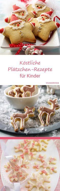 Diese Plätzchen-Rezepte werden Kinder lieben . Aber auch große Weihnachts-Fans haben ihren Spaß. #plätzchen #rezepte #weihnachtsbäckerei