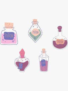 """Harry Potter magic spells potion elixir set pack"" Sticker by Michaela-S | Redbubble Harry Potter Magic Spells, Transparent Stickers, Glossier Stickers, Spelling, Shop, Games, Store"