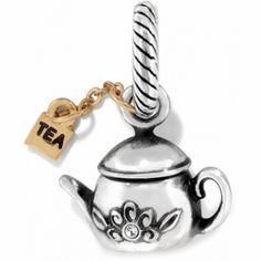 I'm not into tea, but this charm is adorable! available at #Brighton