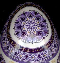 Purple Cross Double Yolk Turkey Pysanka b