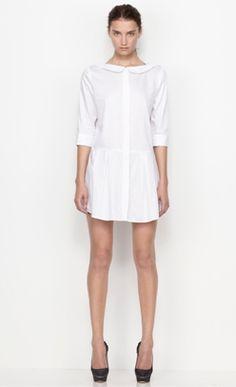 wide collar white (tennis) dress