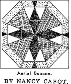AERIAL BEACON / LIGHTHOUSE BLOCK - Antique Geometric Quilt Designs      INTERESTING SITE WITH LOTS OF ANTIQUE BLOCKS