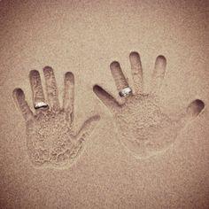 sand hand prints; so cute for a beach wedding!!!