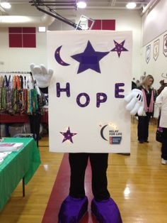 My first outing! #mascot, #Relay_for_Life, #Lumiere_P_Luminarie
