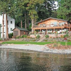 Awe Inspiring Lake House Landscaping Design Ideas Waterfront Landscaping Largest Home Design Picture Inspirations Pitcheantrous