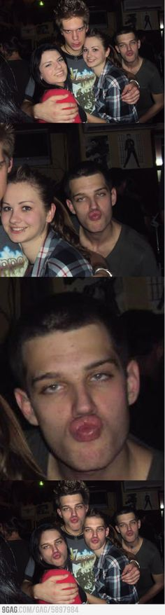 Face swap lvl: drunk photobombing