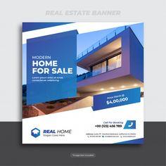 Real estate banner   Premium Vector #Freepik #vector #banner #house #template #home Real Estate Advertising, Real Estate Ads, Real Estate Flyers, Real Estate Marketing, Real Estate Templates, Real Estate Flyer Template, Social Media Banner, Social Media Design, Inmobiliaria Ideas