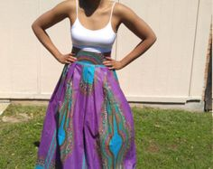 Imprimer dashiki Maxi jupe africain Tribal Maxi jupe par JENNYROSSY