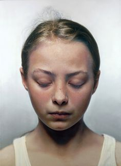Gottfried Helnwein - Head of a Child III 2000, mixed media (oil and acrylic on canvas)