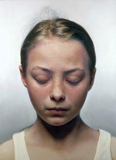 Artist, Gottfried Helnwein.    mixed media (oil and acrylic on canvas)