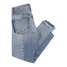 Mix nouveau boyfriend jeans (€640) ❤ liked on Polyvore featuring jeans, pants, blue jeans, boyfriend fit jeans and boyfriend jeans