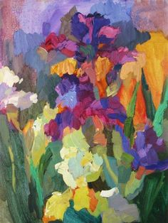 Biography: Larisa Aukon extensive education and natural talents allow her to create masterfully mixed and layered palettes supported by . Abstract Flowers, Abstract Art, Paintings I Love, Painting Techniques, Painting Inspiration, Painting & Drawing, Flower Art, Art Projects, Art Photography
