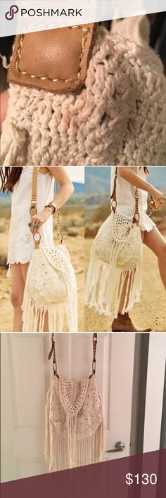 Spell and the Gypsy Havana Crochet Fringe Bag Spell Crochet Fringe Bag. Goes with just about everything. This bag is lovingly used, could use a wash. Originally sold for $199, current price is reflective of used condition & posh fees. Still has plenty of wear in it but sold as is. Spell & The Gypsy Collective Bags