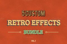 Retro Vintage Effects vol.2 by Riopurba Collection on @creativework247