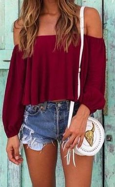 #summer #outfits / red + denim