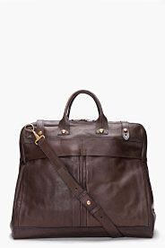 RAG & BONE Brown Leather Weekender Bag
