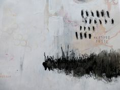 Mixed media - Back to white (with black) by Ines Seidel