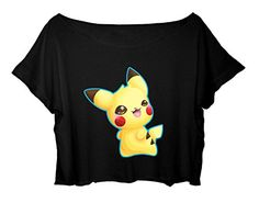 Women's Crop Top Pokemon Shirt Pokemon Cute Image T-shirt (black) http://www.amazon.com/dp/B014FWDGH2/ref=cm_sw_r_pi_dp_ed.8vb0VEJYZJ