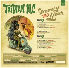 """Cover art pour Taiwan MC et son E.P """"Heavy This Year"""". Get your copy here !"""