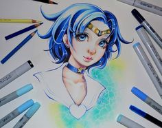 Sailor Mercury by Lighane on DeviantArt