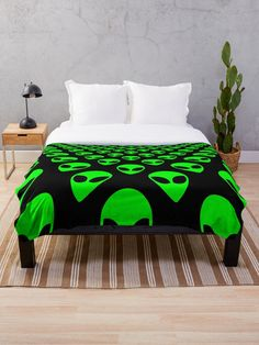 'We are watching you! Ufo, aliens pattern' Throw Blanket by cool-shirts Fleece Blankets, Fleece Throw, Throw Blankets, Stationeries, Round Pillow, Drawstring Bags, Bjd Dolls, Ufo, Laptop Sleeves