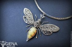 Love the wings! Moon Jewelry, Copper Jewelry, Wire Jewelry, Jewelery, Wire Necklace, Wire Wrapped Necklace, Wire Wrapped Pendant, Necklaces, Insect Jewelry