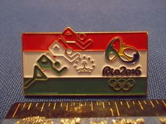 2016 Rio Olympic NOC Pin Tajikistan Team Athletics Dated Numbered Only 200