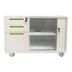 Customized and popular Tambour door 3 drawer mobile cabinet Mobile Pedestal, Cabinet Manufacturers, Steel Locker, Tambour, Filing Cabinet, Locker Storage, Drawers, Popular, Furniture