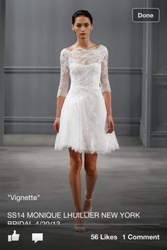 ML short wedding dress