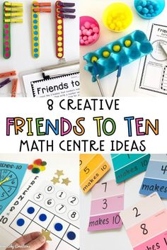Year 1 Maths, Early Years Maths, Primary Maths Games, Math Activities, Maths Fun, Old Fashioned Games, Making Ten, Math Intervention, Rainbow Sky