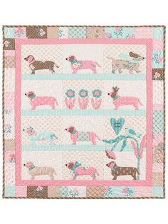 BUNNY HILL DESIGNS DOXIE DOG PATTERN Doxie Dog, designed by Anne Sutton includes instructions for a cute wall hanging finishing approx. 27 x 29 The pattern combines applique and piecing techniques. Dog Quilts, Cat Quilt, Animal Quilts, Baby Quilts, Mini Quilt Patterns, Wall Patterns, Sewing Patterns, Quilting Patterns, Applique Patterns