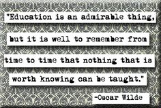 Oscar Wilde Education Quote Magnet (no.230). $4.00, via Etsy.