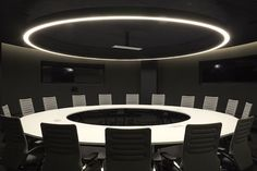 Right here you're looking at a conference room modeled after the War Room in Dr. Strangelove. Because, why not? Image: Airbnb