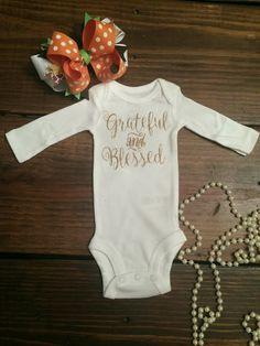 Thanksgiving shirt thankful newborn thanksgiving baby girl thanksgiving grateful toddler thanksgiving thanksgiving outfit thanksgiving shirt by Shop419 on Etsy