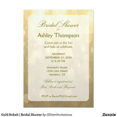 Gold Bokeh   Bridal Shower