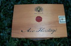 Avo Heritage Cigar Box Two Flap Wooden Storage by IndustrialPlanet