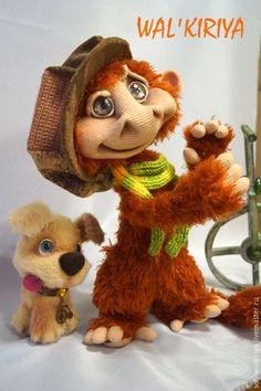 """Купить Мастер-класс по вязанию игрушки крючком """"Йети и обезьян Мартинас"""" - разноцветный, мастер-класс"""