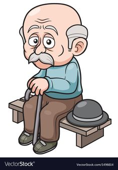 illustration of Cartoon Old man sitting bench Wall Mural ✓ Easy Installation ✓ 365 Day Money Back Guarantee ✓ Browse other patterns from this collection! Old People Cartoon, Old Man Cartoon, Cartoon Clip, Cartoon Images, Cartoon Drawings, Old Man Face, Abraham And Sarah, Man Vector, Man Sitting